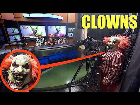 When you see clowns at a News Station broadcasting the news, RUN away as FAST as you can!!