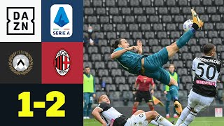 Zlatan macht schon wieder Zlatan-Sachen: Udinese - Milan 1:2 | Serie A | DAZN Highlights