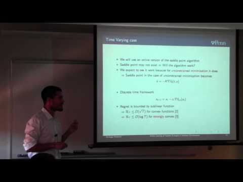 """Santiago Paternain presents """"Online Learning of Feasible Strategies in Unknown Environments """""""