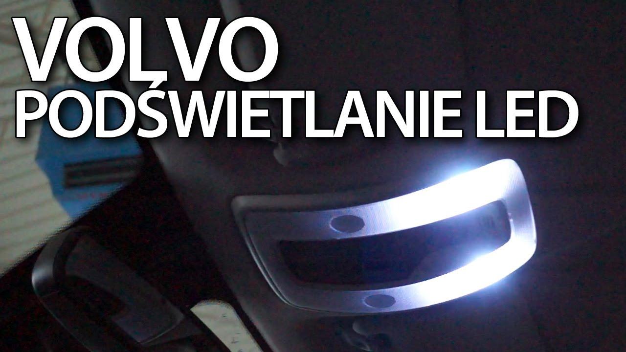 Wymiana oświetlenia wnętrza Volvo na LED (C30 S40 V50 S60 ...