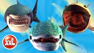 ALL XXL SHARKS UNLOCKED - HUNGRY SHARK WORLD - NEW SHARK GAMEPLAY