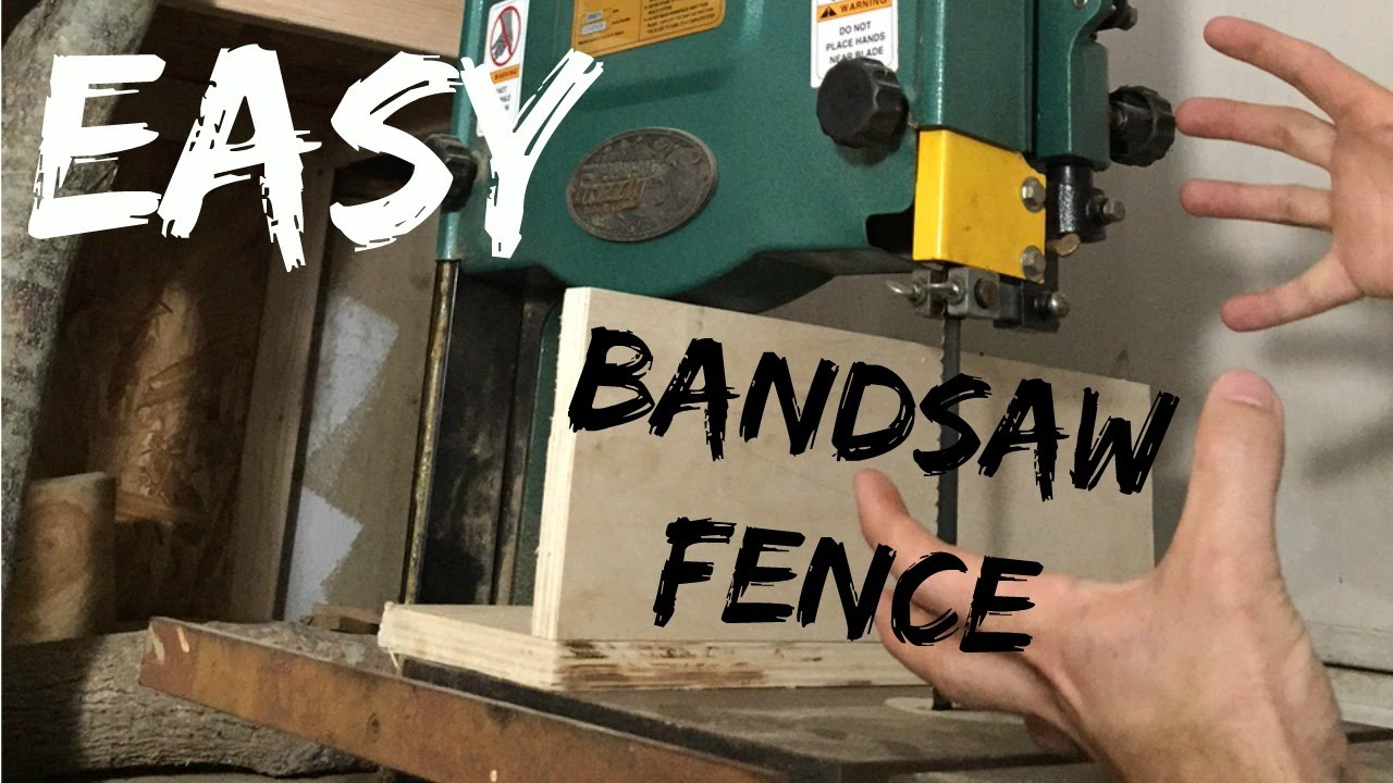 JWF- Worlds Easiest Bandsaw Fence