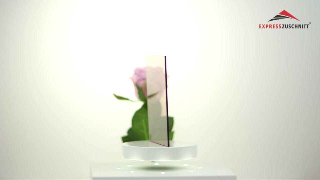 Acrylglas Rauchglas braun önt