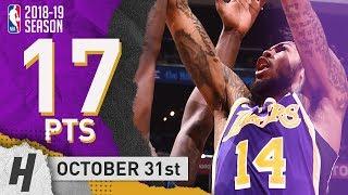 Brandon Ingram Full Highlights Lakers vs Mavericks 2018.10.31 - 17 Pts, 3 Rebounds!