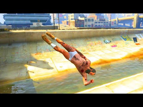 GTA V Unbelievable Crashes/Falls - Episode 11