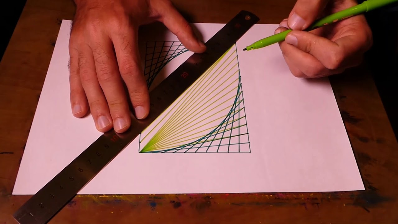 how to draw spirograph pattern art in rectangle