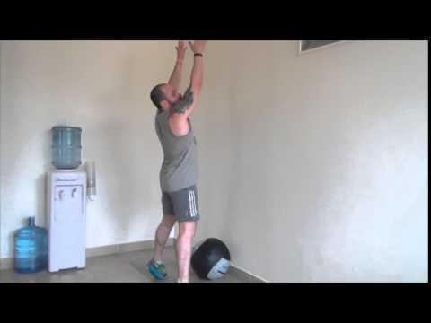 Wall ball squats Instructions