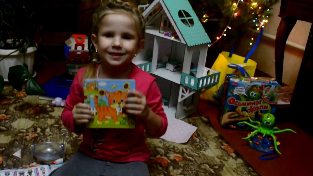 Мирося рассказывает , что принес Дед Мороз.Кукла лол ...