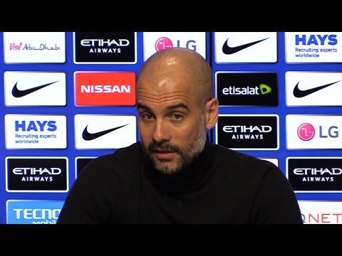 Pep Guardiola Pre-Match Press Conference - Sunderland v Manchester City - Embargo Extras