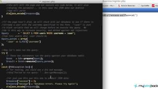 Learn Android 2.20 B - Creating a PHP Web Service for Apps