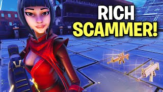 RICHEST Scammer Gets Scammed for his GUNS... 🤣 - Fortnite Save The World