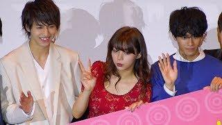 映画『一礼して、キス』の初日舞台あいさつが行われ、主演の池田エライ...