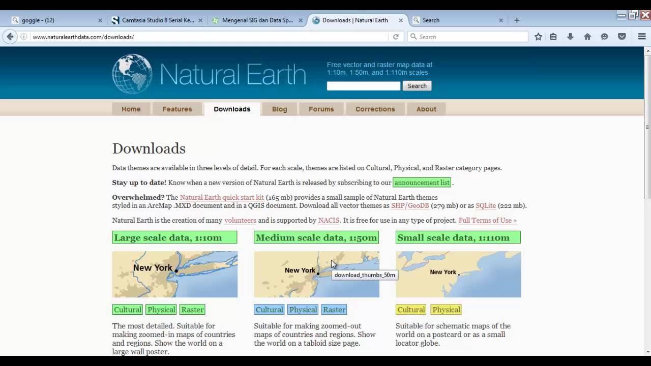 Natural Earth 50m
