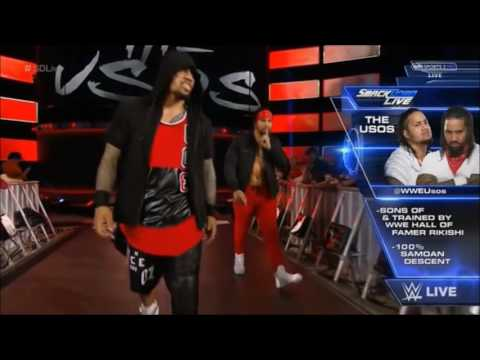 The Usos NEW entrance 2016!!