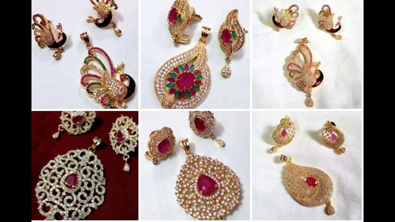 Latest 22k gold 3grams pendant with earring set designs youtube latest 22k gold 3grams pendant with earring set designs aloadofball Images