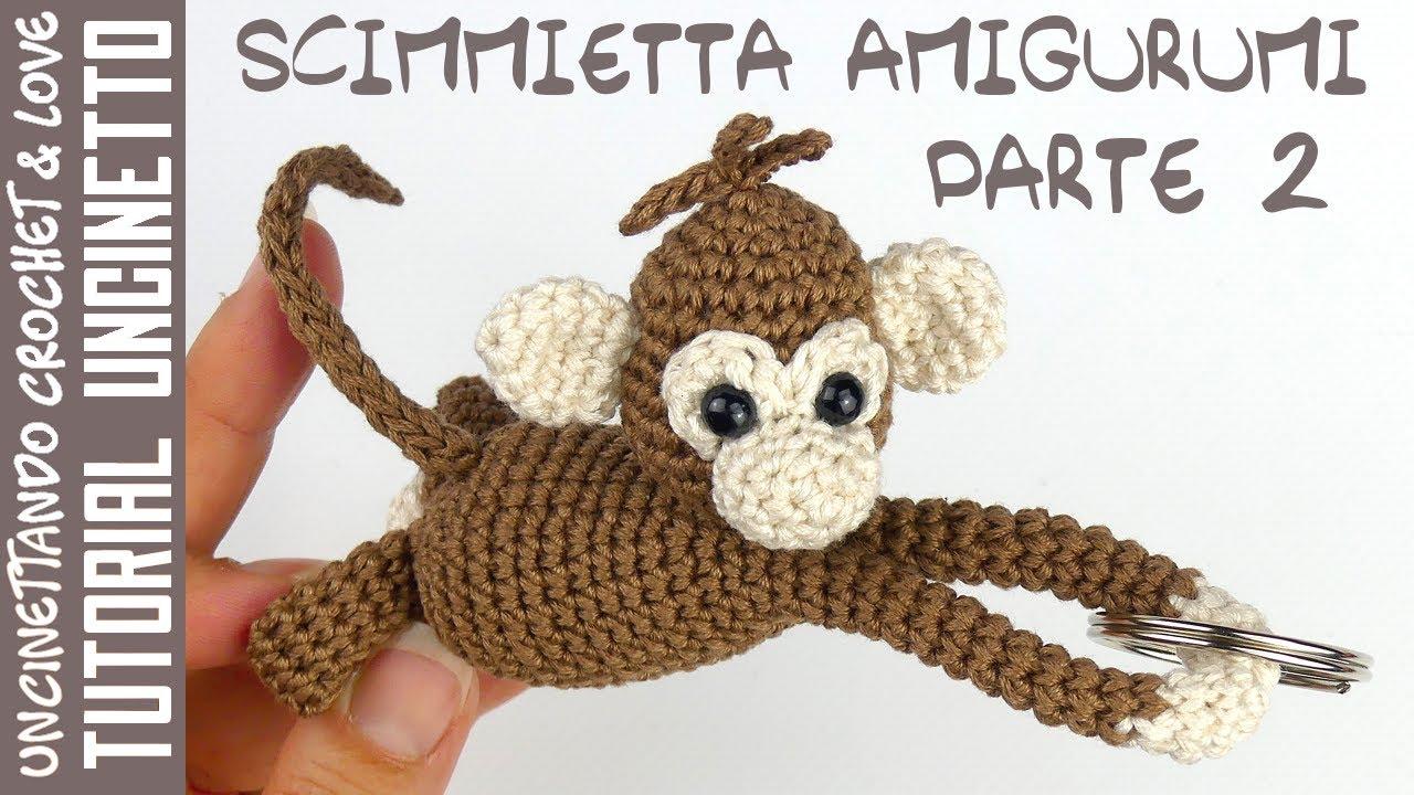 Tutorial Uncinetto - Scimmietta Amigurumi Parte 2 (sottotitoli in inglese e spagnolo)