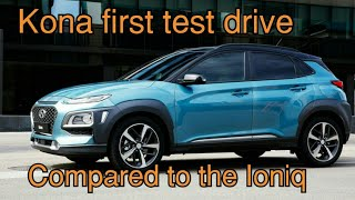 Hyundai Kona first drive. Ioniq versus Kona questions answered. Nissan LEAF test coming soon