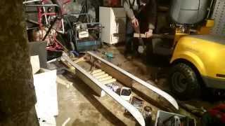 The Skledge Mk1 Build! Half Ski, Half Sledge! Snow Time!