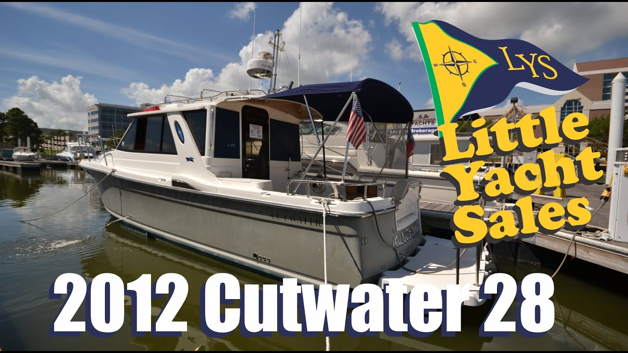 SOLD!!! 2012 cutwater 28 for sale at Little Yacht Sales, Kemah Texas