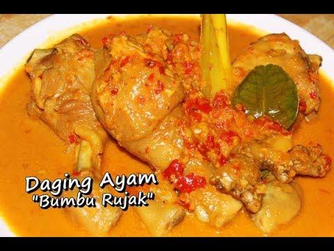 Resep Memasak Daging Ayam Bumbu Rujak Enak, Sedap Dan Lezat Ala Zasanah
