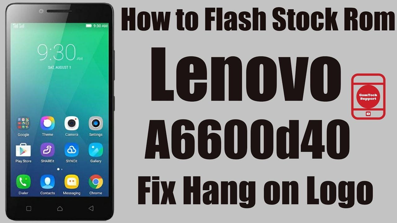 How To Flash Stock Rom Lenovo A6600d40 | Fix Hang on Logo