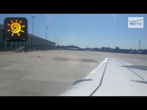 Taking off from Airport Aalborg [HD]