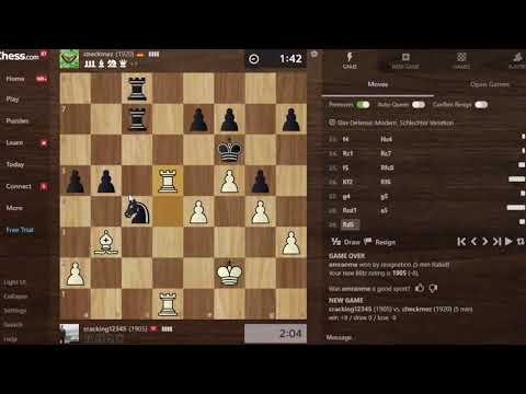 Lối chơi đầy biến ảo đã giúp Chess TC CHECKMATE Cao thủ Đức Elo 19xx cực thuyết phục