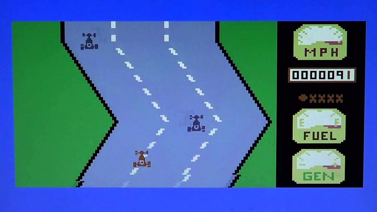 C64 Commodore 64 Motor Mania Game Review