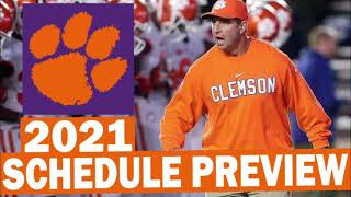 Clemson Tigers 2021 Football Schedule Preview