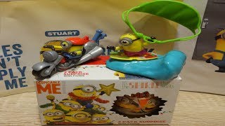 7 Minions Despicable Me 3 Surprise Eggs Opening from Minions Movie (3 video in one) #130