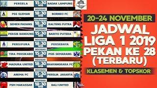 Jadwal Siaran langsung Liga 1 2019 Pekan 28 Terbaru dan Klasemen Liga 1 (20-24 November)