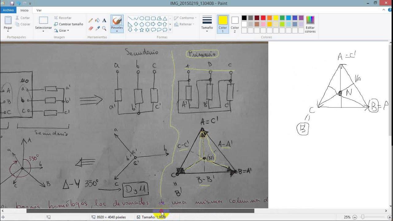 Grupos De Conexion E Indice Horario Trafo Trifasico Dy11