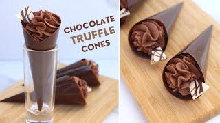 Chocolate Truffle Cones   H๐w to Make a Chocolate Cone
