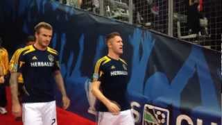 David Beckham takes the field for his final game in MLS