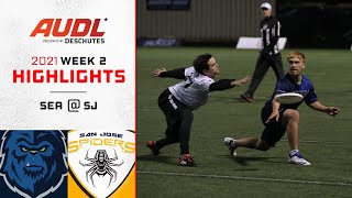 Seattle Cascades at San Jose Spiders   Week 2   Game Highlights