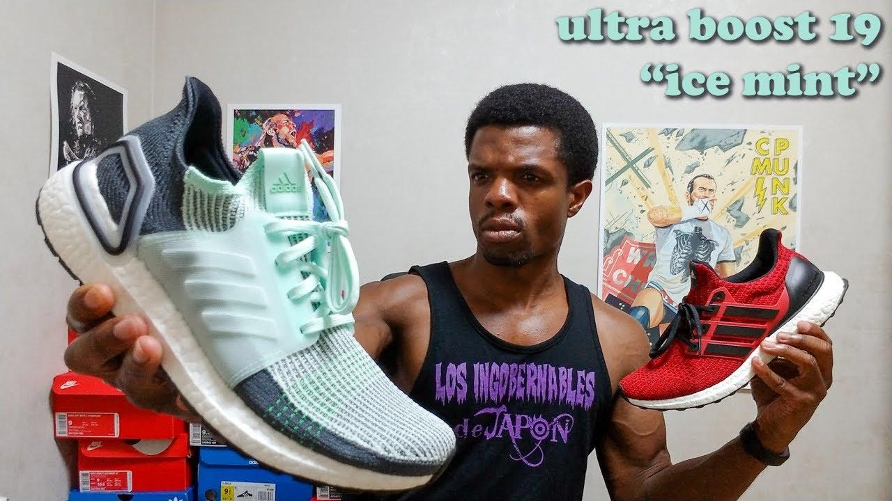 "Adidas Ultra Boost 19 ""Ice Mint"" On"