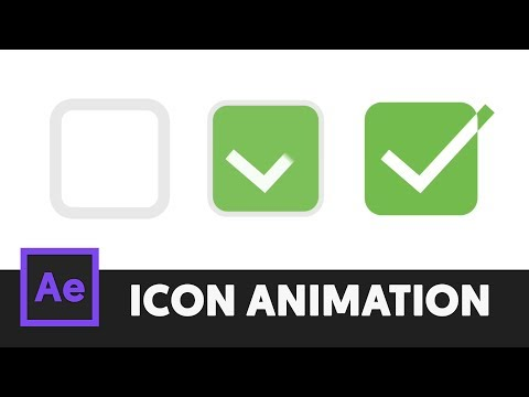 Animated Icon #3 - After Effects Tutorial (No Third Party Plugin) - T065