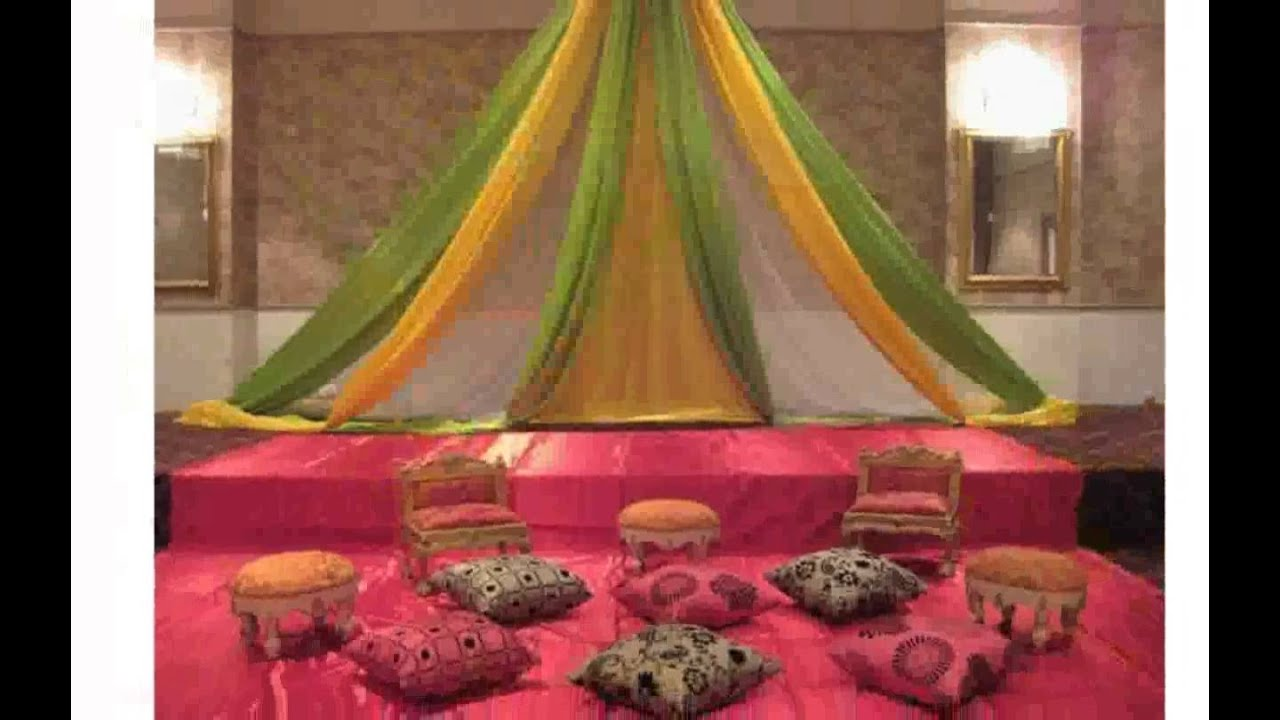 Mehndi decoration ideas youtube for Decoration ideas