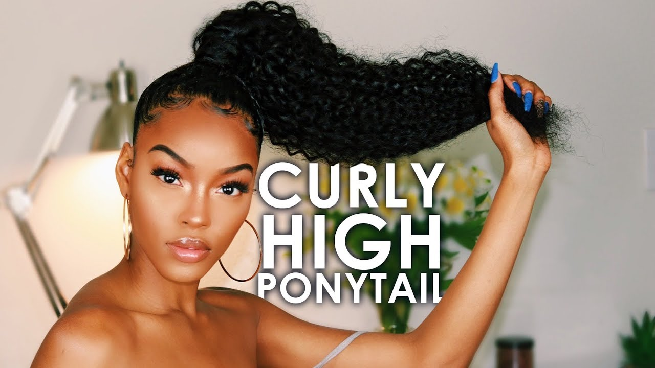 High Curly Ponytail Tutorial Feat Longqi Hair Slim