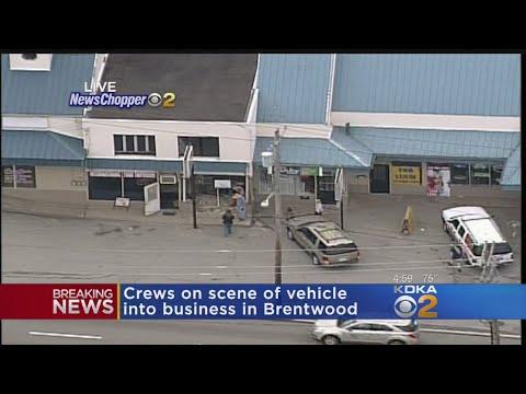 Vehicle Crashes Into Brentwood's International Food Emporium