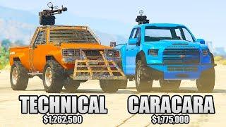 GTA 5 Online - CARACARA vs TECHNICAL ($1,775,000 vs $1,262,500)