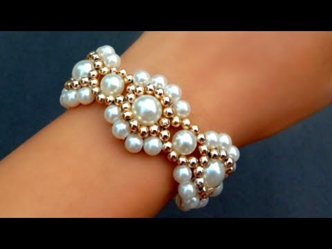 How To Make Vintage Bracelet//Pearl Bracelet//Making Easy Tutorial// useful & easy