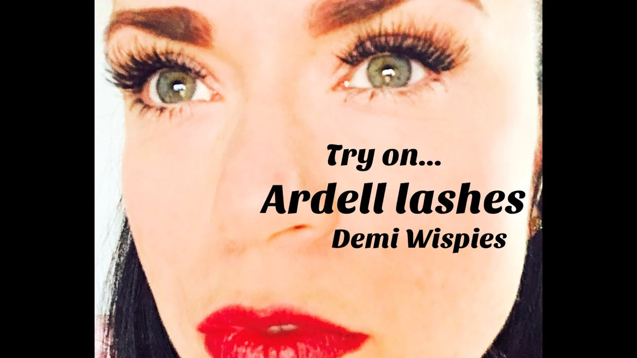 dddcf6c0080 Ardell Demi Wispies / FAKE EYELASHES - YouTube