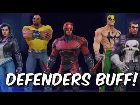 Defenders Buff!  Iron Fist Finally Good?!?!  Marvel Strike Force