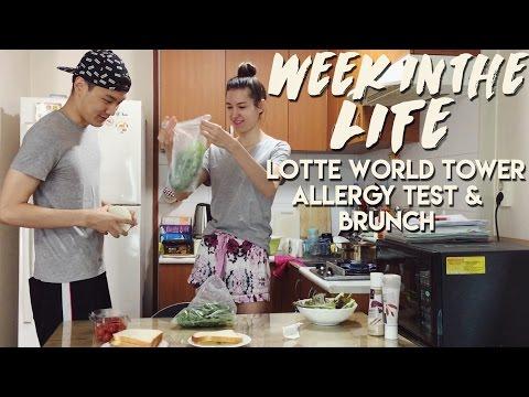 WEEK IN THE LIFE: Lotte World Tower, Allergy Test & Brunch 국제커플 한 주의 일상: 롯데월드 타워 & 브런치 (자막 CC)