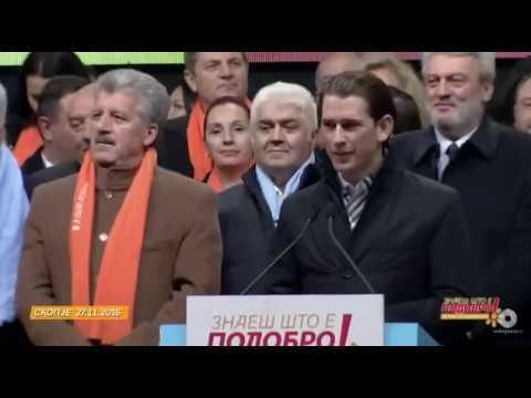 Sebastian Kurz unterstützt VMRO-DPMNE in Mazedonien Skopje