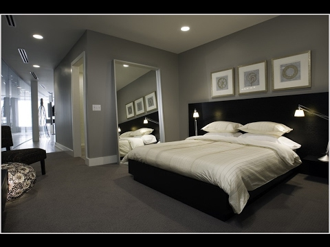 Dark grey carpet for bedroom decor ideas youtube for Bedroom ideas dark grey