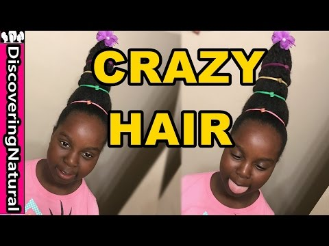 CRAZY Hair  Hairstyle for Girls and School | Natural Hair Cindy Lou Who