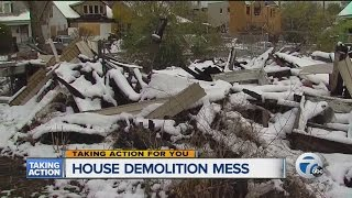 House demolition mess