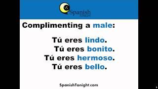 How Say Cute Pretty Handsome Beautiful Spanish